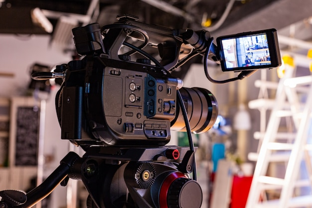 Achter de schermen van videoproductie of video-opnamen