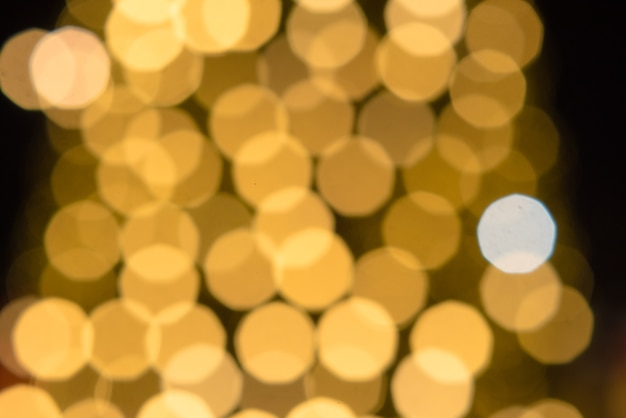 Achtergrond bokeh goud licht en kleurrijk van de nacht