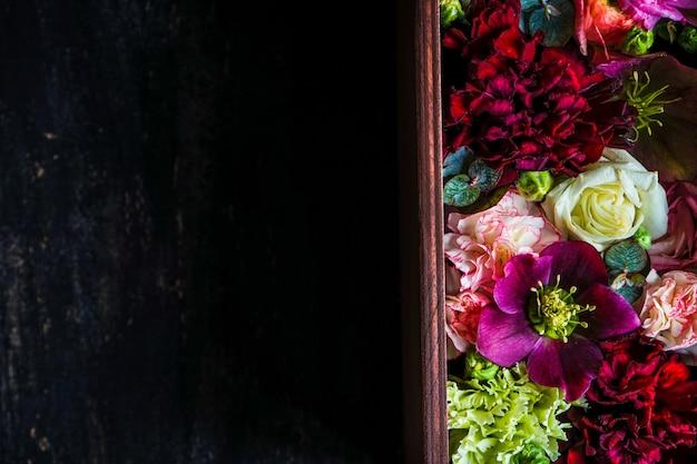 Achtergrond concept met bloemen