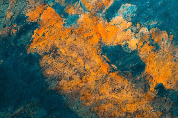 Achtergrond geschilderd roestig ijzer