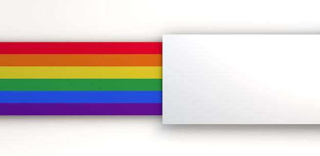 Achtergrond in de kleuren van de trotsvlag met ruimte om tekst te plaatsen. 3d illustratie.