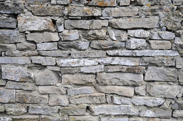 Achtergrond in de vorm van een oude stenen muur van grote blokken