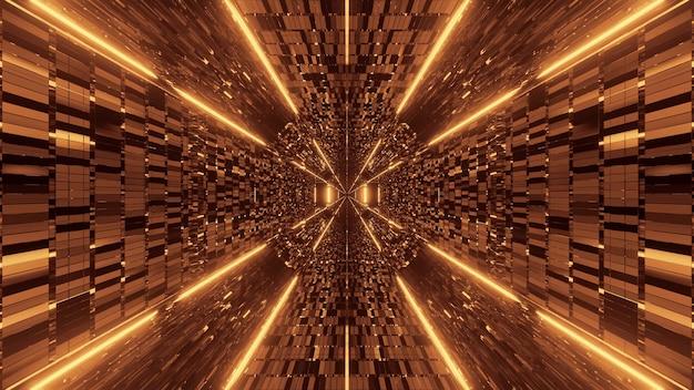 Achtergrond met abstracte gele lichteffecten