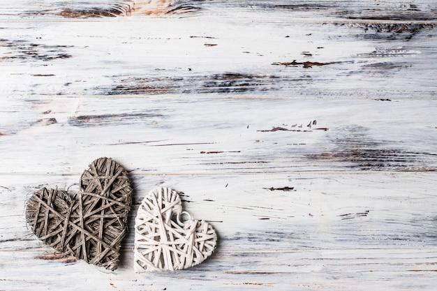 Achtergrond met harten, valentine. valentijnsdag. liefde. romantische foto. plaats voor tekst. kopie ruimte