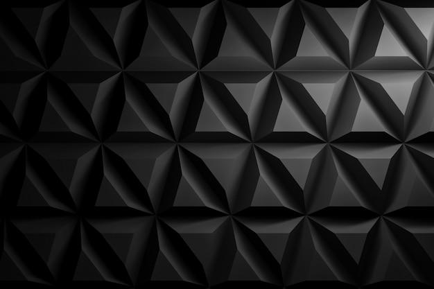 Achtergrond met herhalende geometrische vormen in zwarte kleur
