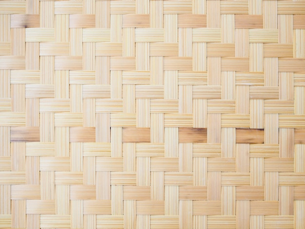 Achtergrond met het patroon van het weefselbamboe, traditioneel mandewerk in thailand.