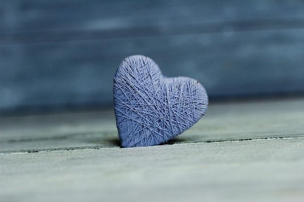 Achtergrond met houten hart, valentijnsdag