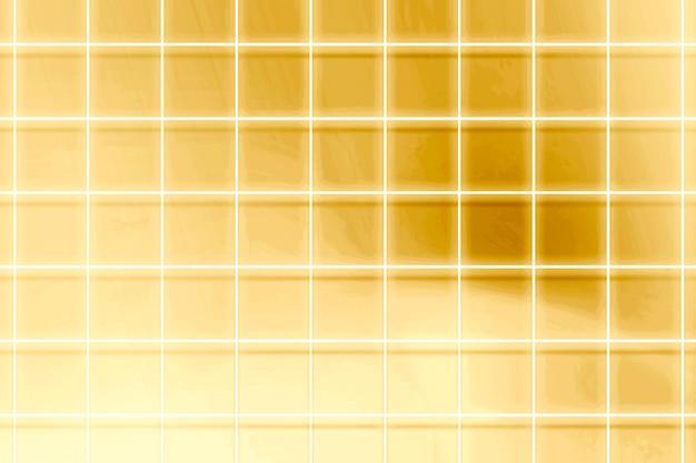 Achtergrond met neon gouden rasterpatroon