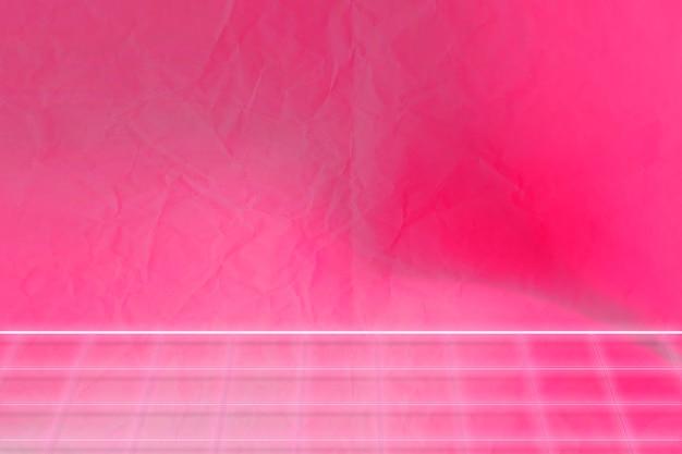 Achtergrond met neonroze rasterpatroon