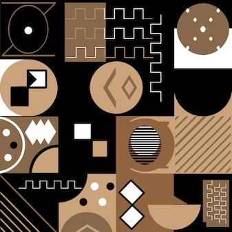 Achtergrond met trendy geometrieontwerp toepasbaar voor covers, voucherposters, flyers en banner