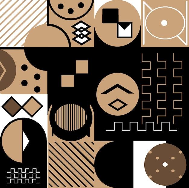 Achtergrond met trendy geometrieontwerp van toepassing op posters met omslagen: