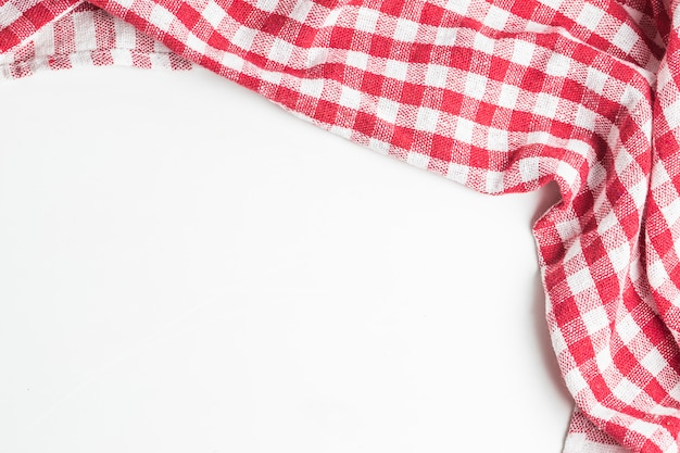 Achtergrond met verfrommelde tafelkleed