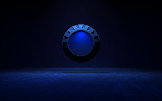 Achtergrond met verlichtingsringen 3d-rendering