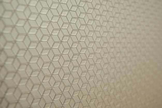 Achtergrond met zachte geometrische patroon gericht close-up en kopieer de ruimte
