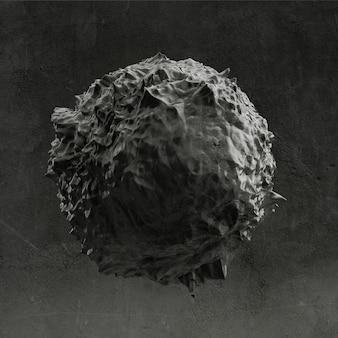 Achtergrond met zwarte vorm, textuur. 3d-afbeelding, 3d-rendering.