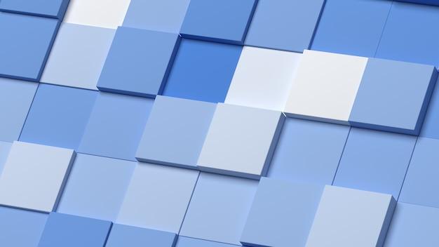 Achtergrond minimaal abstract vierkanten gradiënt wit blauw modern 3d render
