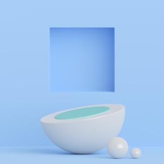 Achtergrond, mock-up scène geometrie vorm frame voor productvertoning en presentatie, 3d-rendering illustratie