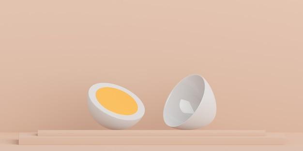 Achtergrond, mock-up scène geometrie vorm frame voor productvertoning en presentatie, ei-stijl 3d-rendering illustratie