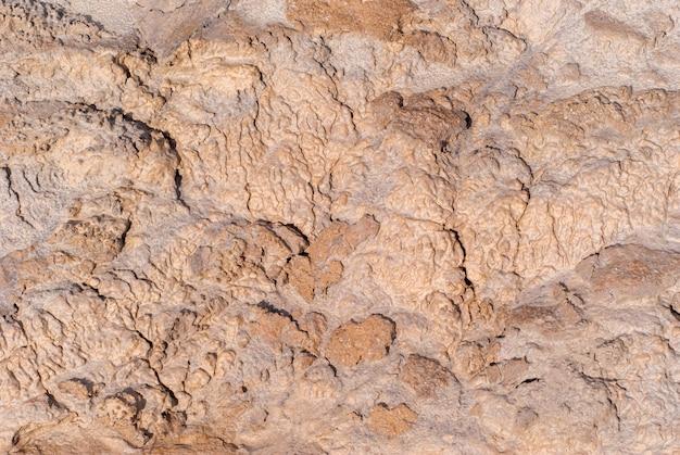 Achtergrond - modder in een gedroogd kleikanaal van een waterstroom