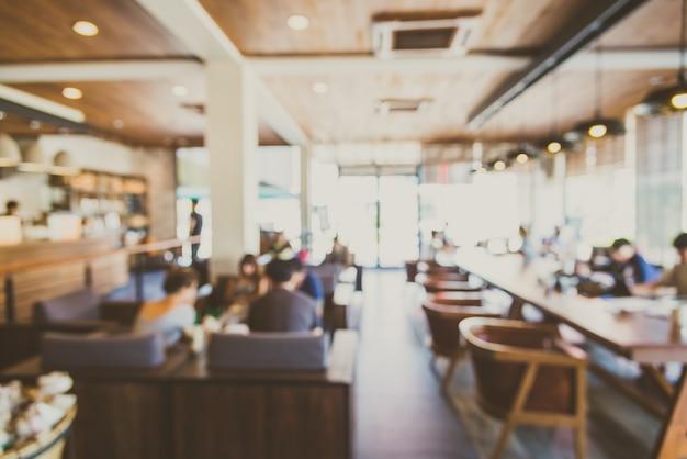 Achtergrond onscherp restaurant winkelinterieur