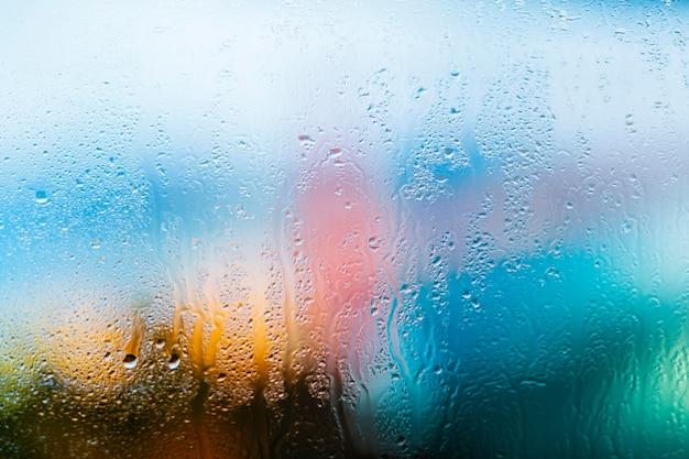 Achtergrond regendruppels close-up