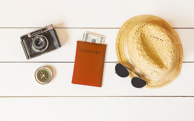 Achtergrond reis. zeetour, items.
