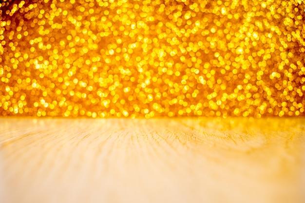 Achtergrond van abstracte glitter lichten. zilver en goud. gefocust