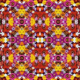 Achtergrond van bloemen en bessen, naadloos patroon.