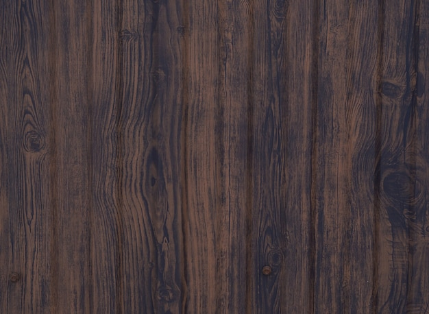 Achtergrond van bruine houten planken, houtstructuur met knopen
