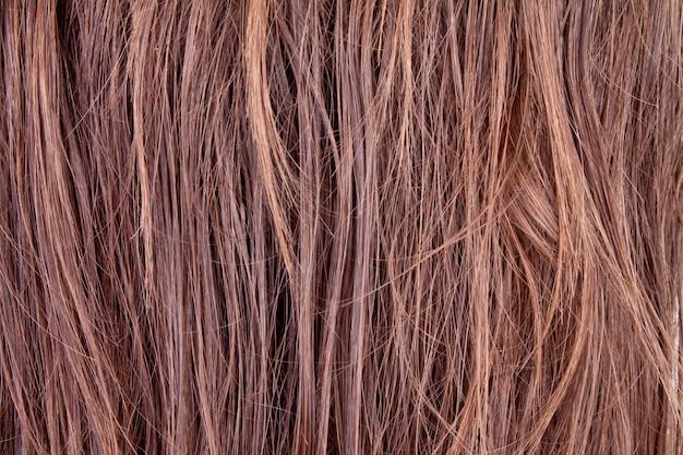 Achtergrond van bruine prachtige haren