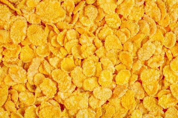 Achtergrond van cornflakes bovenaanzicht