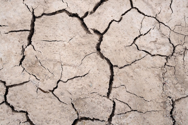 Achtergrond van de grond de droogte gebarsten textuur natur