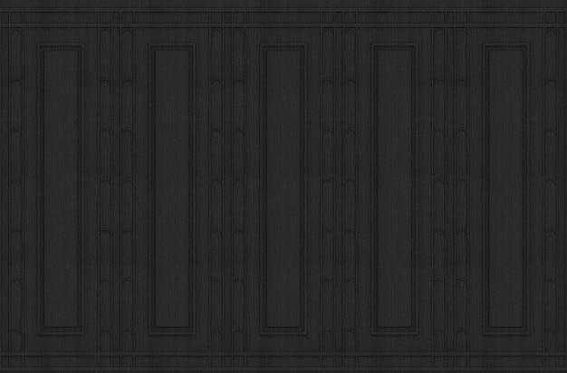 Achtergrond van de het ontwerp uitstekende houten muur van het luxe zwarte klassieke patroon.