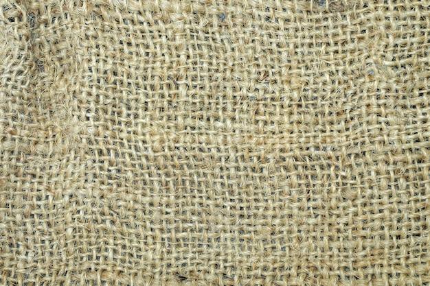 Achtergrond van de jute de materiële textuur.
