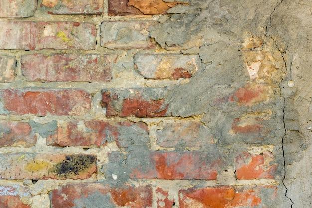 Achtergrond van de oude textuur van de grungebakstenen muur