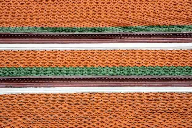 Achtergrond van de textuur van daktegels van thaitemple