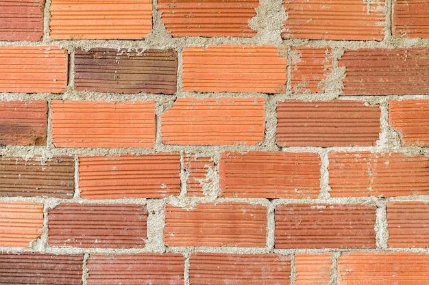 Achtergrond van een oude bakstenen muur. vooraanzicht.