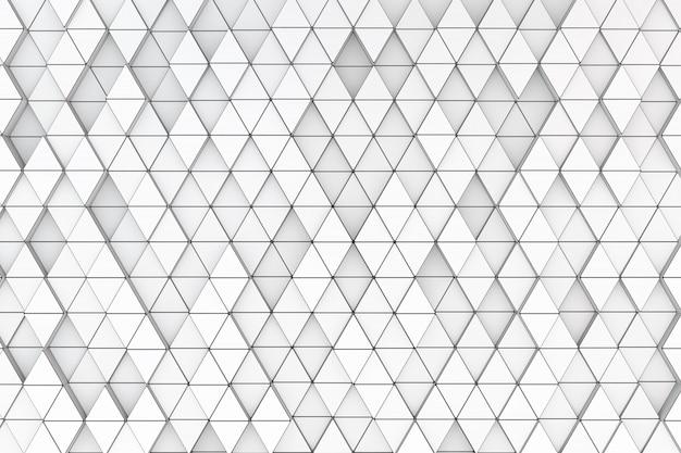 Achtergrond van een verscheidenheid van driehoeken. 3d render