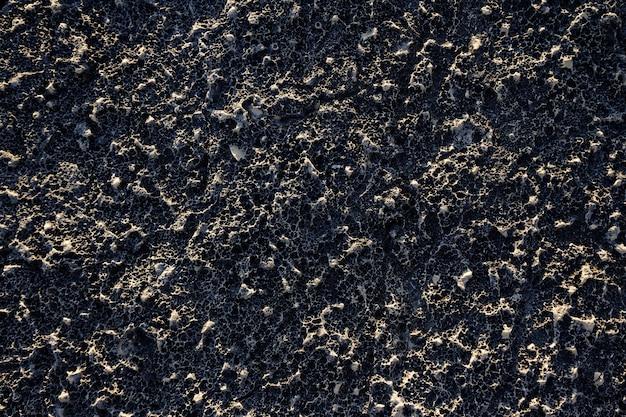 Achtergrond van een zwarte muur met interessante texturen