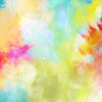 Achtergrond van explosie van glanzend gekleurd poeder