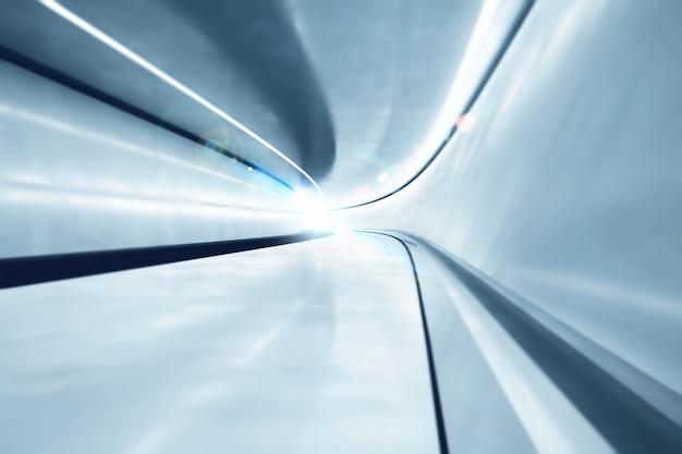 Achtergrond van futuristische grote tunnel met lichten