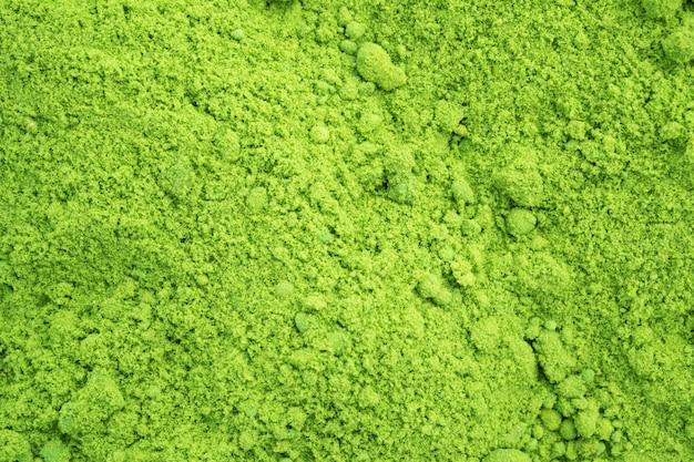 Achtergrond van gepoederde groene thee