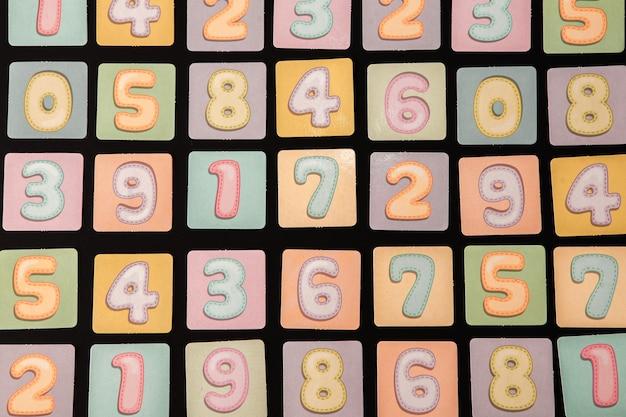Achtergrond van getallen of naadloos patroon met getallen