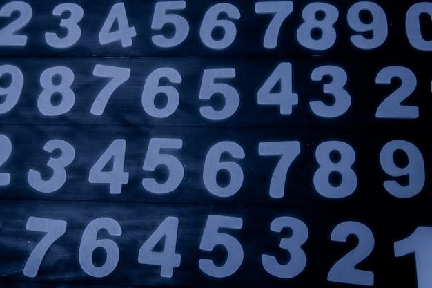 Achtergrond van getallen van nul tot negen
