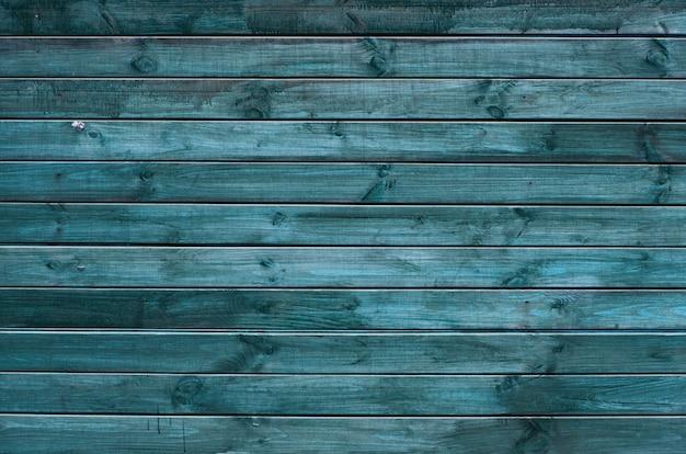 Achtergrond van groen en blauw geschilderde houten planken, geschilderde houtstructuur