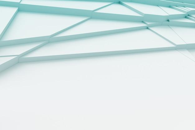 Achtergrond van het oppervlak gesneden in veel verschillende veelhoeken werpen een schaduw 3d-rendering