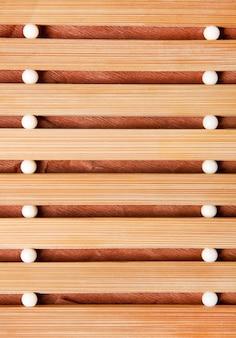 Achtergrond van houten mat