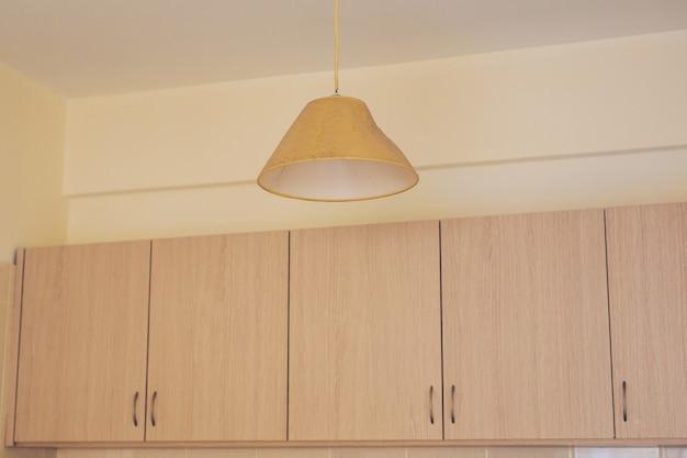 Achtergrond van keuken in beige delicate kleuren