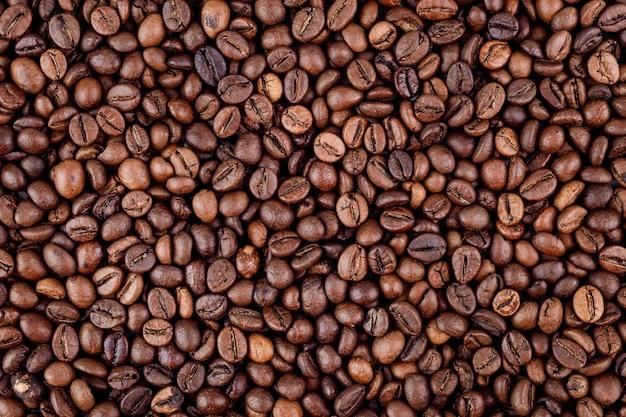 Achtergrond van koffiebonen macro-opnamen