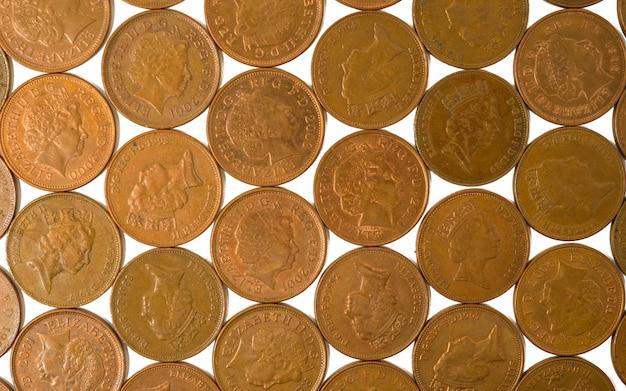 Achtergrond van munten van 2 p